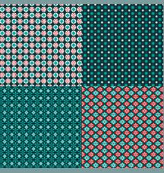 Winter snowflake geometric patterns vector