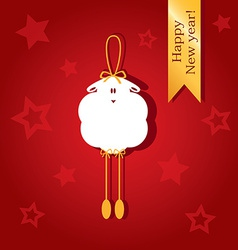 Christmas card with a picture of sheep vector image vector image
