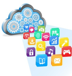 cloud computing and applications vector image vector image