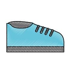 scribble shoe cartoon vector image vector image