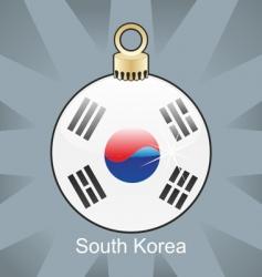 south Korea flag on bulb vector image