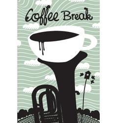 spring coffee vector image vector image