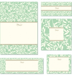 vector green ivy frame set vector image vector image