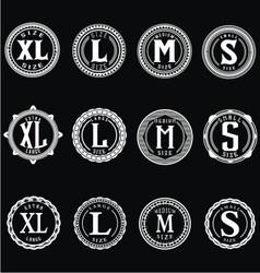Vintage Size Label vector image vector image