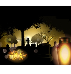 all saints day vector image