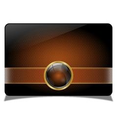 Brown vip card vector image