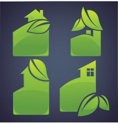 eco cottages vector image