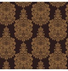 Seamless vintage baroque background vector image