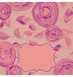 vintage rose card vector image vector image
