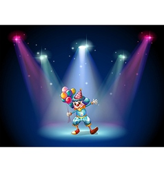 A clown at the center of the stage vector image vector image