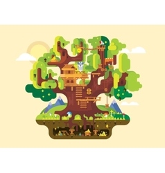 Fabulous tree house vector image vector image