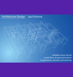 model floor of apartment block vector image