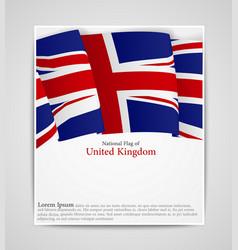 national flag brochure of united kingdom vector image vector image