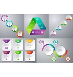 set templates infographics vector image