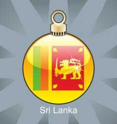 sri Lankan flag on bulb vector image vector image