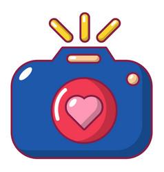 wedding photography icon cartoon style vector image