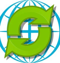 arrow logo vector image vector image
