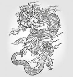asian dragon illustration vector image vector image