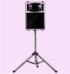 audio speaker stand vector image vector image