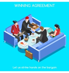 Business Room 02 People Isometric vector image vector image