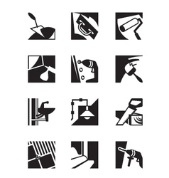 Construction tools and materials vector image vector image