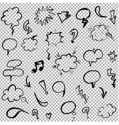 hand drawn design elements set vector image vector image