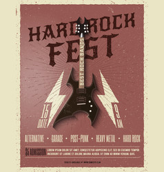 hard rock music festival flyer poster vector image