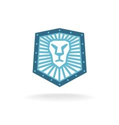 Lion head shield logo vector image vector image
