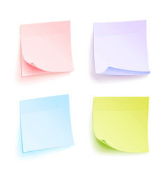 paper work notes isolated set of color vector image