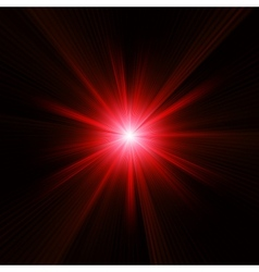 Red color design with a burst EPS 10 vector image vector image