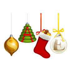 sale christmas decorations vector image
