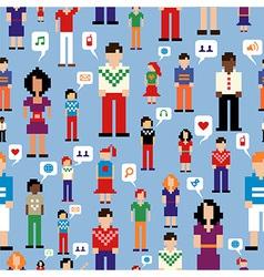 Social media people network pattern vector image vector image