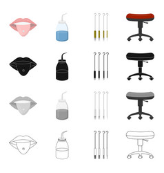 tattoo drawing salon and other web icon in vector image