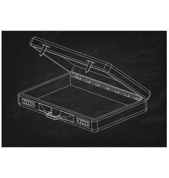 3d model suitcase on a black vector image