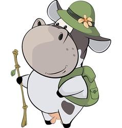 A small cow Cartoon vector image