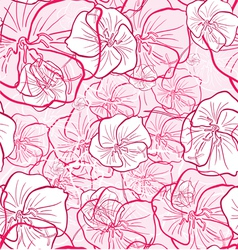 abstract flowers seamless texture vector image