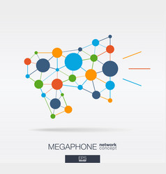 Abstract social media market background network vector