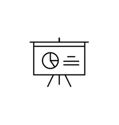 analytics board diagram outline icon signs and vector image