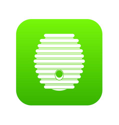 Beehive icon digital green vector