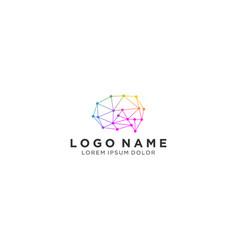 Brain logo modern design for education vector