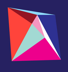 Bright color abstract form from triangles vector