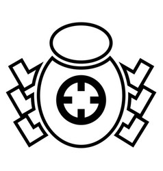 bug beetle in target sight icon black color flat vector image