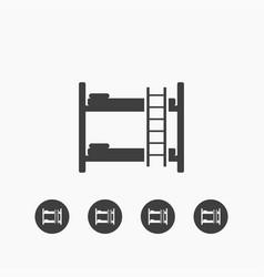 bunk bed icon simple vector image