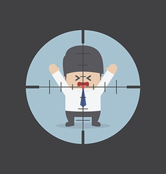businessman in rifle sight vector image