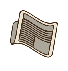 Cartoon newspaper letter news daily vector