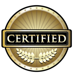 Certified Gold Emblem vector