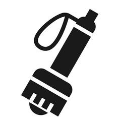 climb flashlight icon simple style vector image