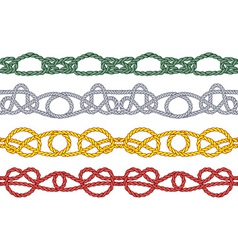 Colored sea knot pattern vector