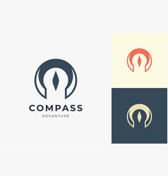 Compass logo with simple shape for business brand vector