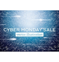Cyber Monday Technological Background vector